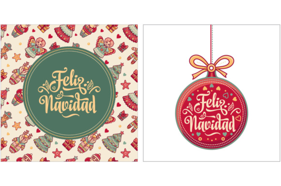 Download Free Feliz Navidad Spanish Christmas Graphic By Zoyali Creative for Cricut Explore, Silhouette and other cutting machines.