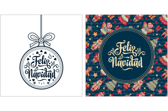 Download Free Feliz Navidad Spanish Christmas Grafik Von Zoyali Creative for Cricut Explore, Silhouette and other cutting machines.