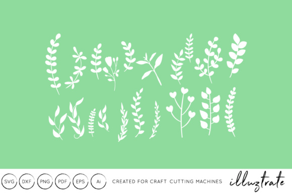 Print on Demand: Fern and Wol Flowers SVG Cut File Graphic Crafts By illuztrate