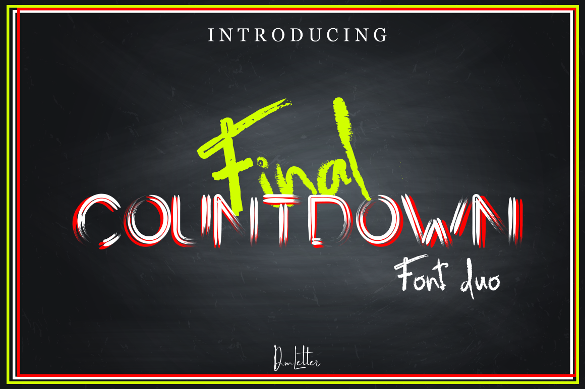 Download Free Final Countdown Font By Dmletter31 Creative Fabrica for Cricut Explore, Silhouette and other cutting machines.