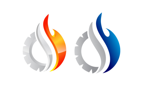 Fire Gear Logo Graphic Logos By 2qnah