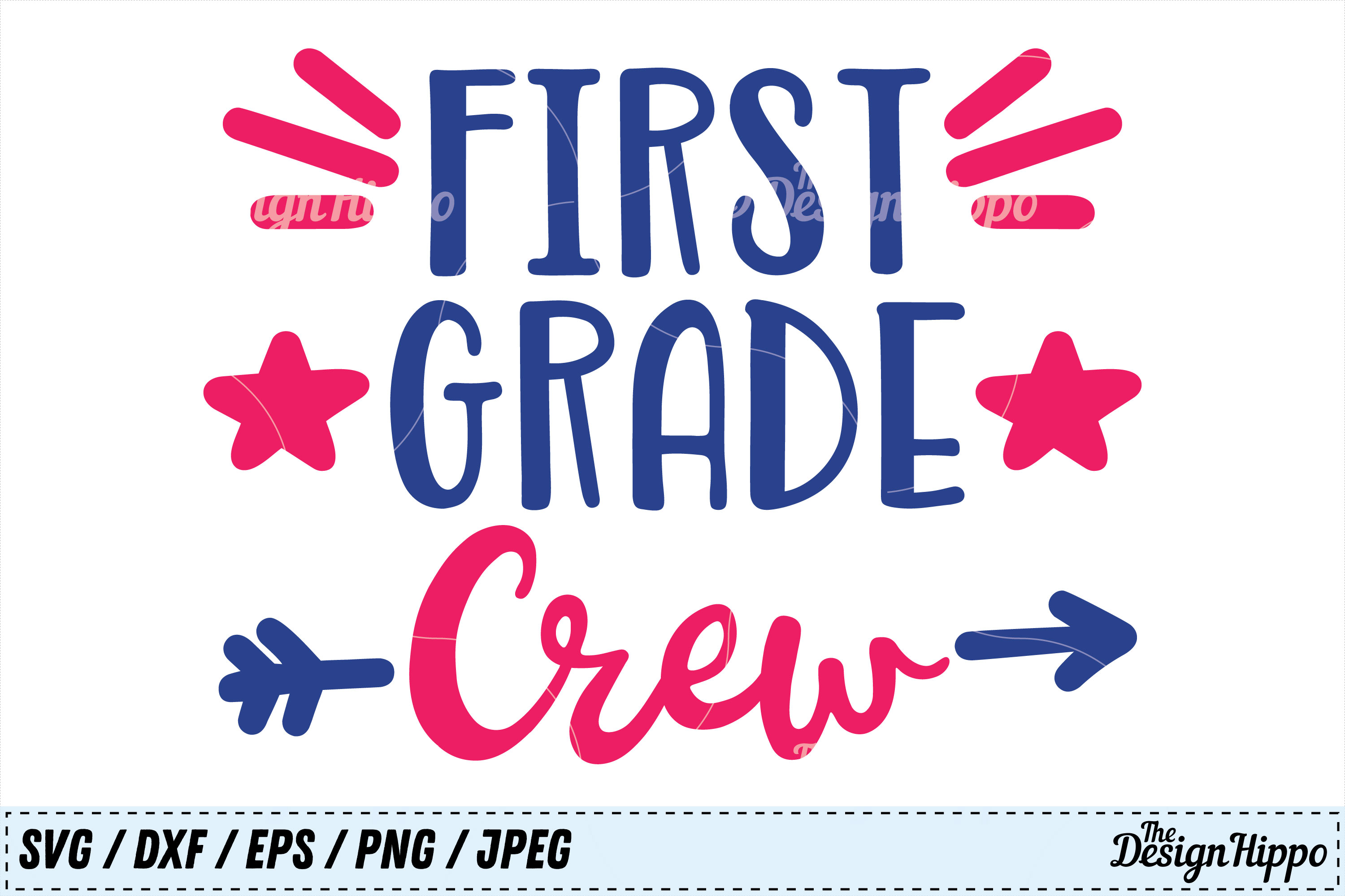 Download Free First Grade Crew Svg Graphic By Thedesignhippo Creative Fabrica for Cricut Explore, Silhouette and other cutting machines.