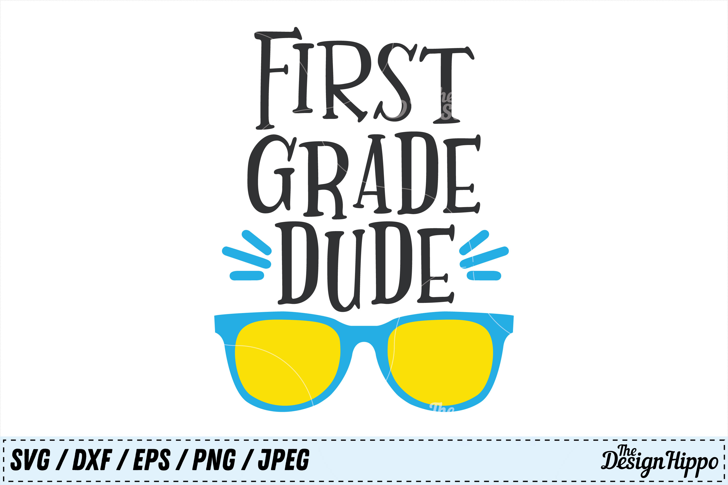 Download Free First Grade Dude Svg Graphic By Thedesignhippo Creative Fabrica for Cricut Explore, Silhouette and other cutting machines.