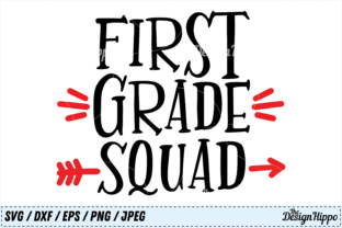 Download Free First Grade Squad Svg Cut File Graphic By Thedesignhippo Creative Fabrica for Cricut Explore, Silhouette and other cutting machines.