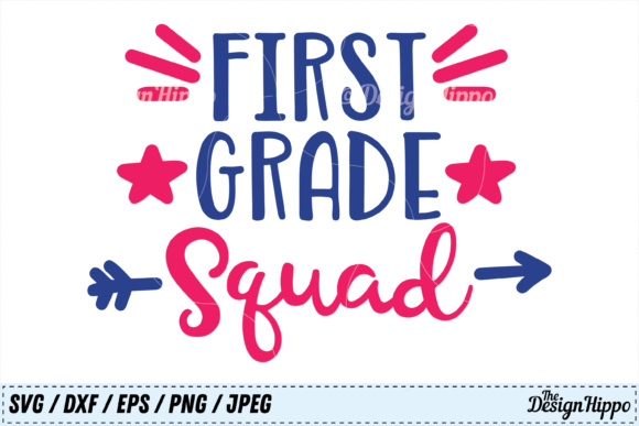 Download Free First Grade Squad Svg Graphic By Thedesignhippo Creative Fabrica for Cricut Explore, Silhouette and other cutting machines.
