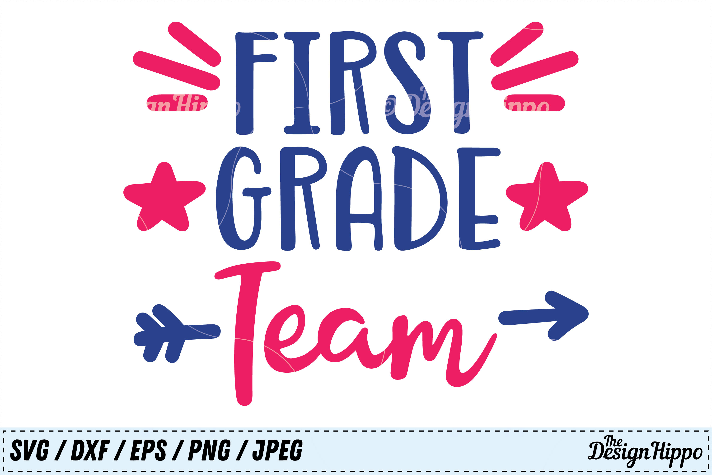Download Free First Grade Team Svg Graphic By Thedesignhippo Creative Fabrica for Cricut Explore, Silhouette and other cutting machines.