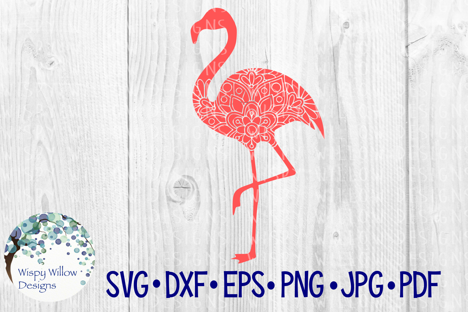 Download Free Flamingo Floral Mandala Graphic By Wispywillowdesigns for Cricut Explore, Silhouette and other cutting machines.