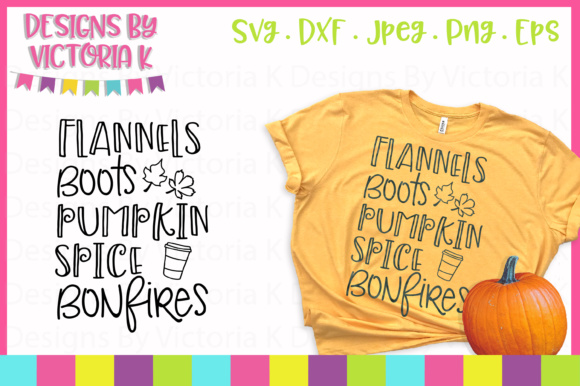 Download Free Flannels Boots Pumpkin Spice Bonfires Svg Graphic By Designs By for Cricut Explore, Silhouette and other cutting machines.
