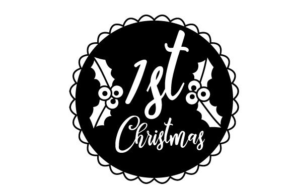 Download Free Floating Christmas Ornament 1st Christmas Svg Cut File By for Cricut Explore, Silhouette and other cutting machines.