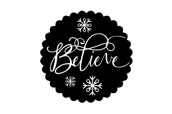 Download Free Floating Christmas Ornament Believe Svg Cut File By Creative for Cricut Explore, Silhouette and other cutting machines.