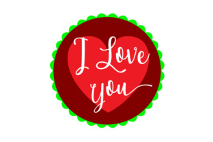 Floating Christmas Ornament - I Love You Christmas Craft Cut File By Creative Fabrica Crafts