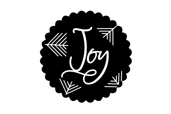Download Free Floating Christmas Ornament Joy Svg Cut File By Creative for Cricut Explore, Silhouette and other cutting machines.