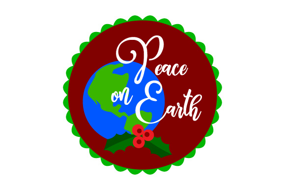 Download Free Floating Christmas Ornament Peace On Earth Svg Cut File By for Cricut Explore, Silhouette and other cutting machines.