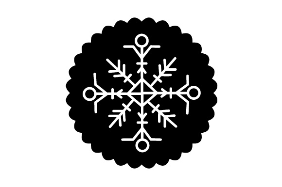 Download Free Floating Christmas Ornament Snowflake Svg Cut File By Creative for Cricut Explore, Silhouette and other cutting machines.