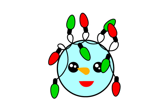 Download Free Floating Christmas Ornament Snowman Christmas Lights Svg Cut for Cricut Explore, Silhouette and other cutting machines.