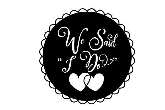 Download Free Floating Christmas Ornament We Said I Do Svg Cut File By for Cricut Explore, Silhouette and other cutting machines.