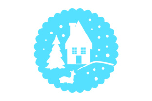 Floating Christmas Ornament   Winter Scene Christmas Craft Cut File By Creative Fabrica Crafts