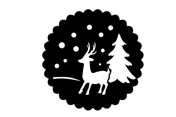 Download Free Floating Christmas Ornament Winter Scene Svg Cut File By Creative Fabrica Crafts Creative Fabrica for Cricut Explore, Silhouette and other cutting machines.