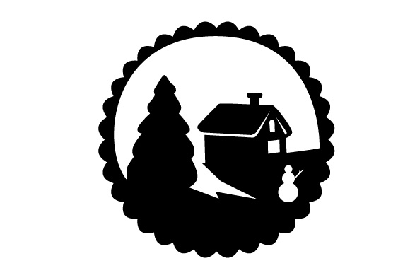 Download Free Floating Christmas Ornament Winter Scene Svg Cut File By for Cricut Explore, Silhouette and other cutting machines.