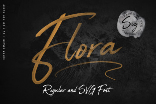 Print on Demand: Flora Font Color Fonts Font By I Do Not Sleep