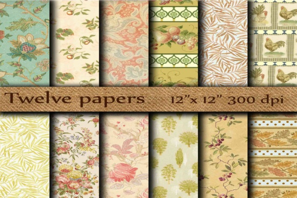 Floral Digital Papers Graphic Backgrounds By twelvepapers