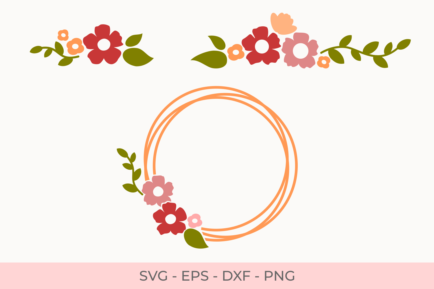 Download Free Flowers Graphic By Little Craft Fun Creative Fabrica for Cricut Explore, Silhouette and other cutting machines.