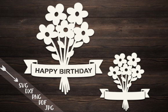 Download Free Flowers Bouquet Paper Cut Template Graphic By Cornelia for Cricut Explore, Silhouette and other cutting machines.