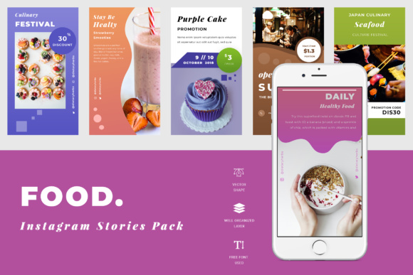 Food Instagram Story Graphic Websites By TMint