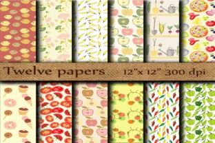 Food Digital Paper Graphic Backgrounds By twelvepapers