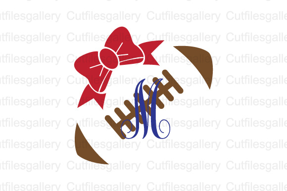 Download Free Football Bow Cut File Graphic By Cutfilesgallery Creative Fabrica for Cricut Explore, Silhouette and other cutting machines.