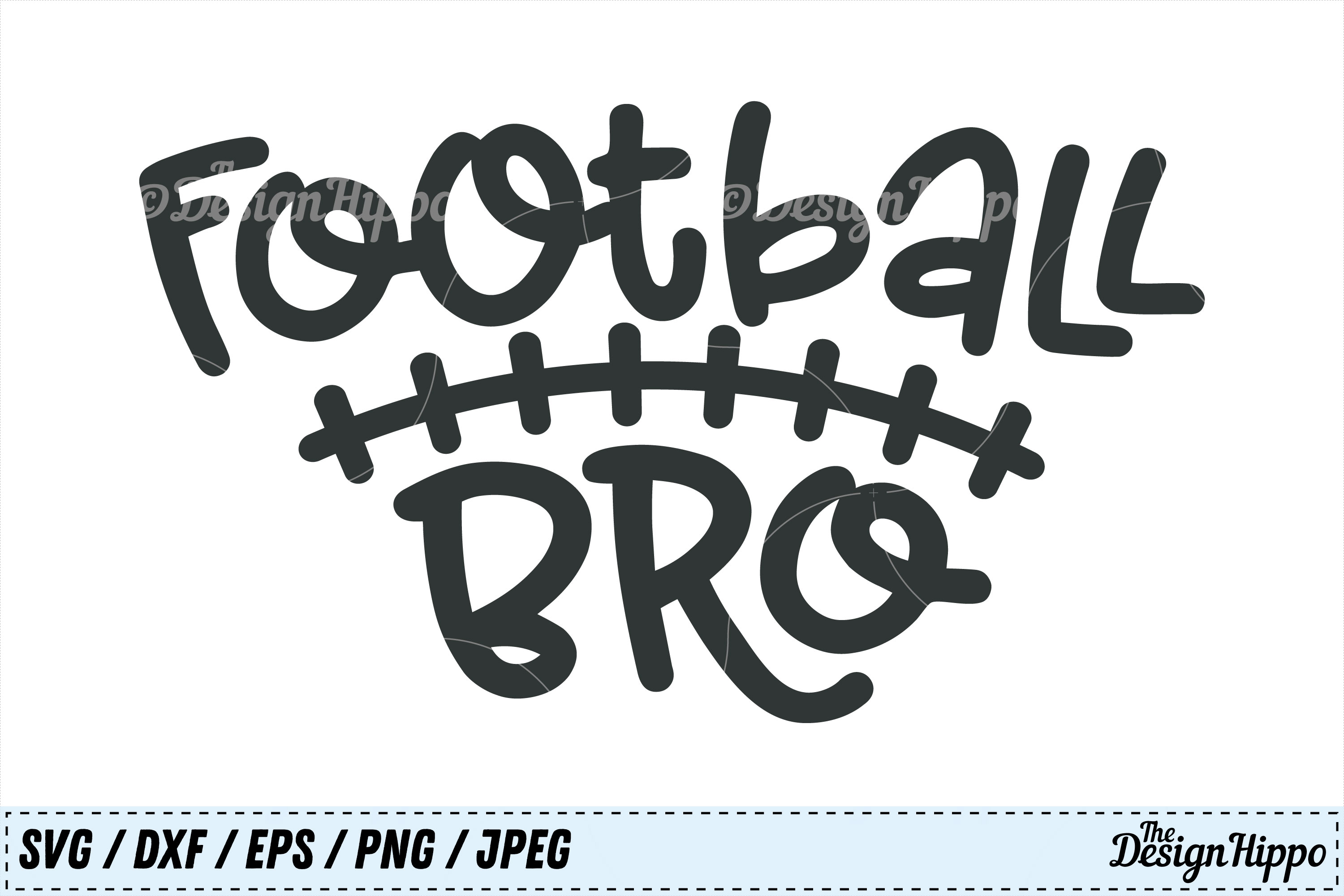 Download Free Football Bro Cut File Graphic By Thedesignhippo Creative Fabrica for Cricut Explore, Silhouette and other cutting machines.