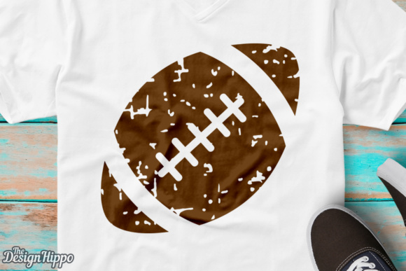 Download Free Football Grunge Graphic By Thedesignhippo Creative Fabrica for Cricut Explore, Silhouette and other cutting machines.