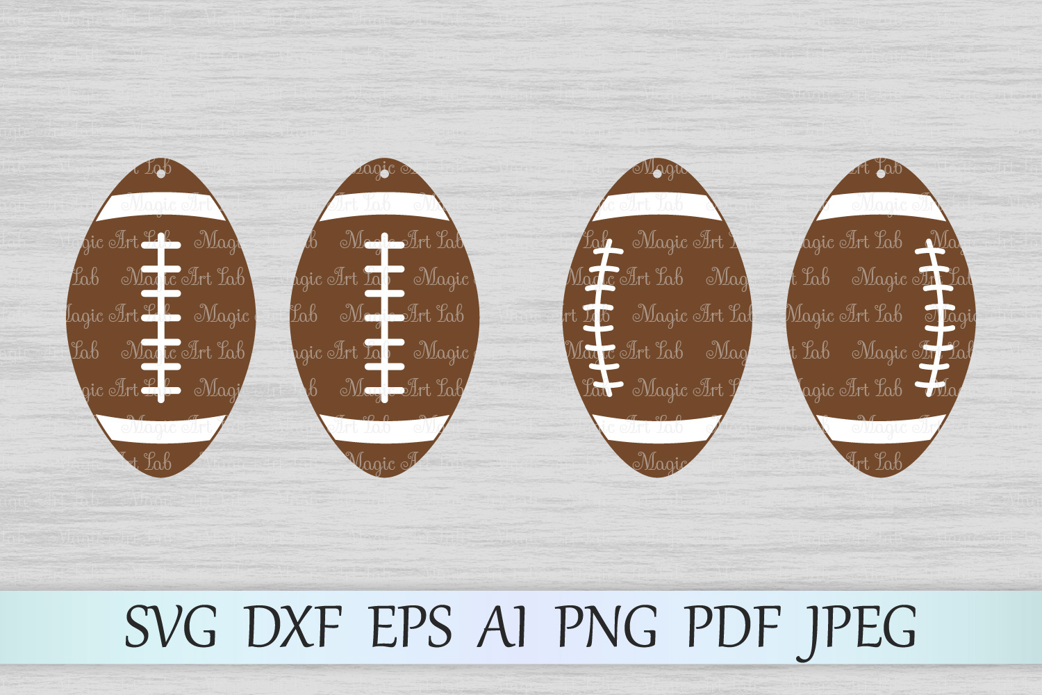 Download Free Football Earrings Graphic By Magicartlab Creative Fabrica for Cricut Explore, Silhouette and other cutting machines.