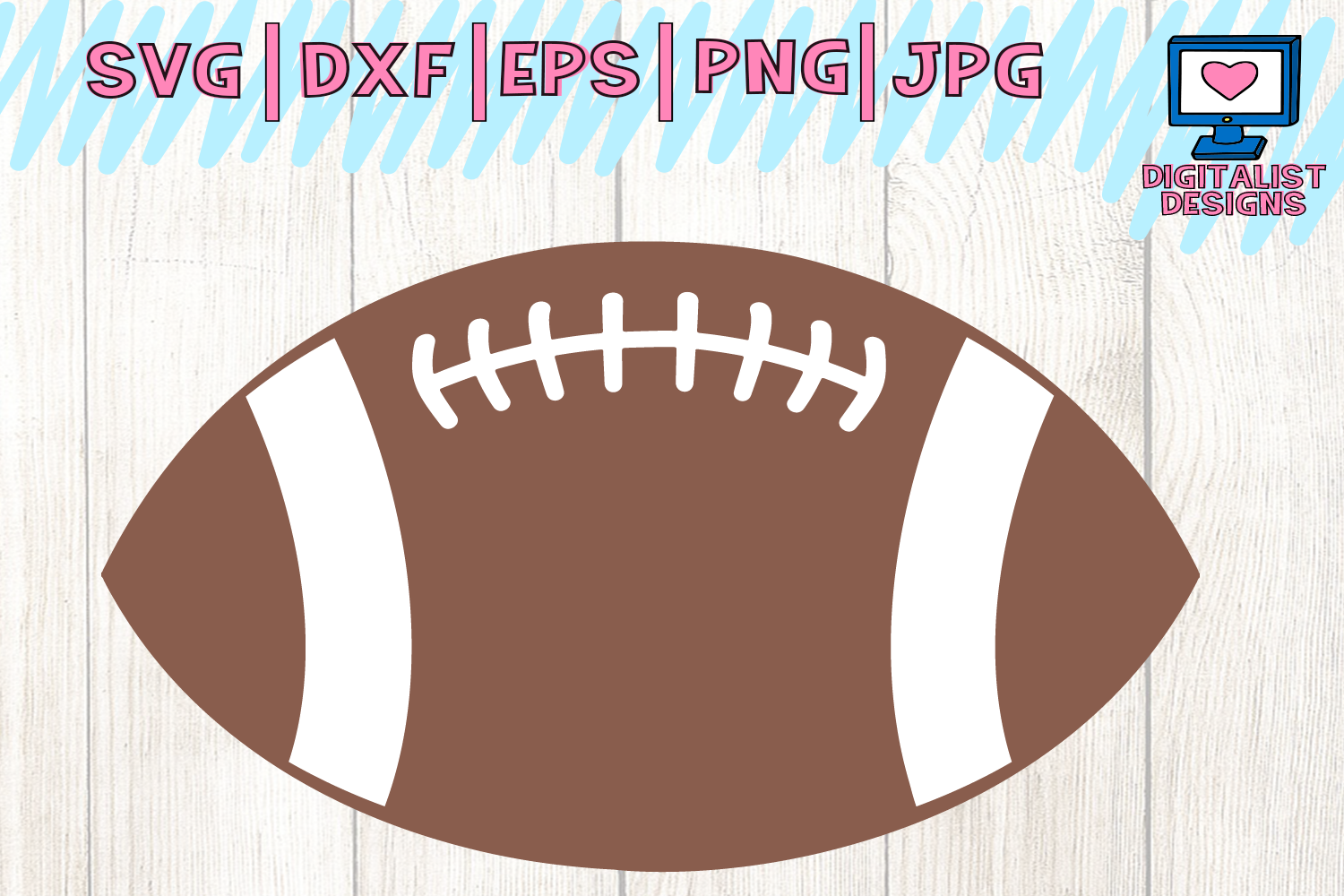 Download Free Football Sports School Graphic By Digitalistdesigns Creative for Cricut Explore, Silhouette and other cutting machines.