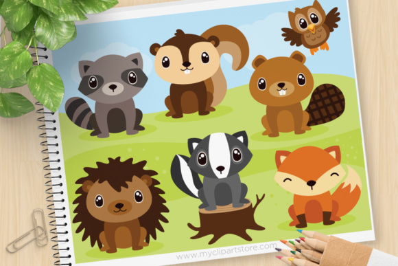 Print on Demand: Forest Animals Clipart Graphic Illustrations By MyClipArtStore