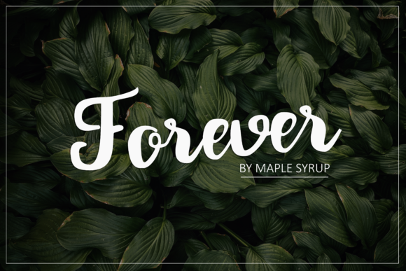 Print on Demand: Forever Script Script & Handwritten Font By maplesyruptype