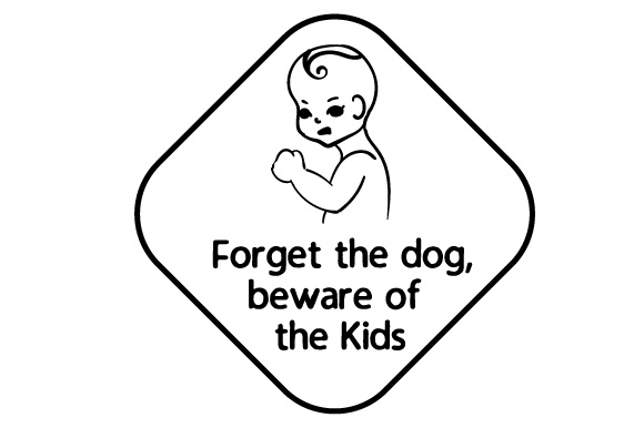 Forget the Dog, Beware of the Kids Family Car Craft Cut File By Creative Fabrica Crafts - Image 2