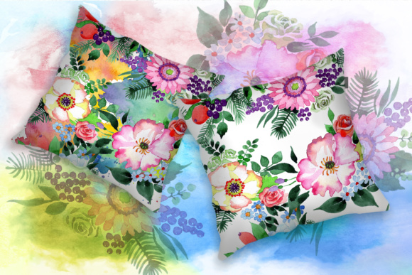 Print on Demand: Four Wonderful Bouquet Flowers PNG Watercolor Set  Graphic Illustrations By MyStocks - Image 5