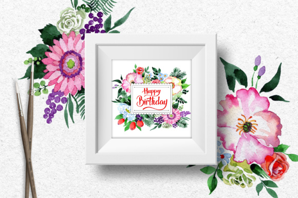 Print on Demand: Four Wonderful Bouquet Flowers PNG Watercolor Set  Graphic Illustrations By MyStocks - Image 8