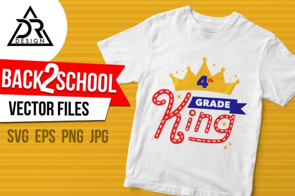 Print on Demand: Fourth Grade King Graphic Illustrations By davidrockdesign