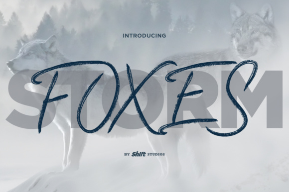 Print on Demand: Foxes Display Font By ShiftStudios