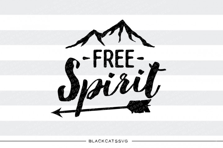 Free Spirit Mountain Svg Grafico Por Blackcatsmedia Creative
