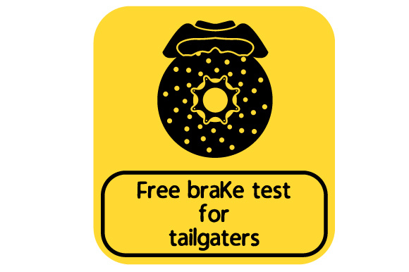 Free Brake Test for Tailgaters Family Car Craft Cut File By Creative Fabrica Crafts