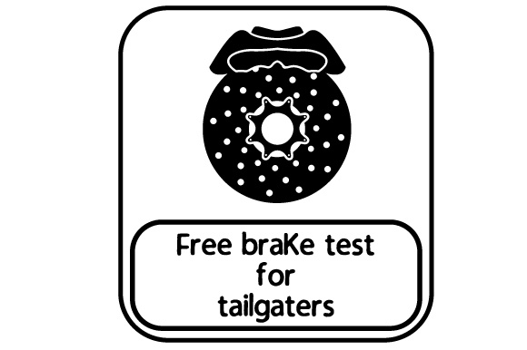 Free Brake Test for Tailgaters Family Car Craft Cut File By Creative Fabrica Crafts - Image 2