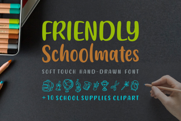 Print on Demand: Friendly Schoolmates Script & Handwritten Font By Situjuh