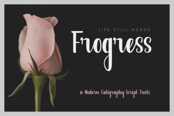Print on Demand: Frogress Script & Handwritten Font By collectype