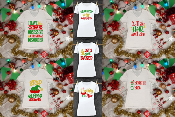 Funny Christmas Quotes Bundle Graphic By Craft Pixel Perfect