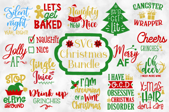 Christmas Quotes And Graphics: Funny Christmas Quotes Bundle Graphic By Craft Pixel
