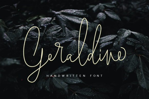 Print on Demand: Geraldine Script & Handwritten Font By Geranium.co