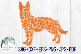 Download Free German Shepard Dog Mandala Animal Pet Graphic By for Cricut Explore, Silhouette and other cutting machines.